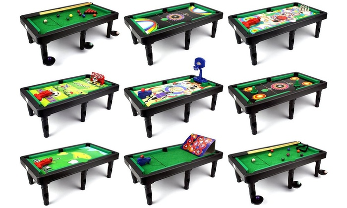 Ultimate 9 in 1 novelty table top arcade games toy play for 12 in 1 game table groupon