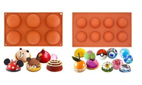 6 or 8 Holes Silicone Mold For Ice Chocolate Cake Jelly Pudding Handmade Soap