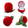 New Rose Jewelry Box Wedding Ring Gift Case Earrings Display Holder