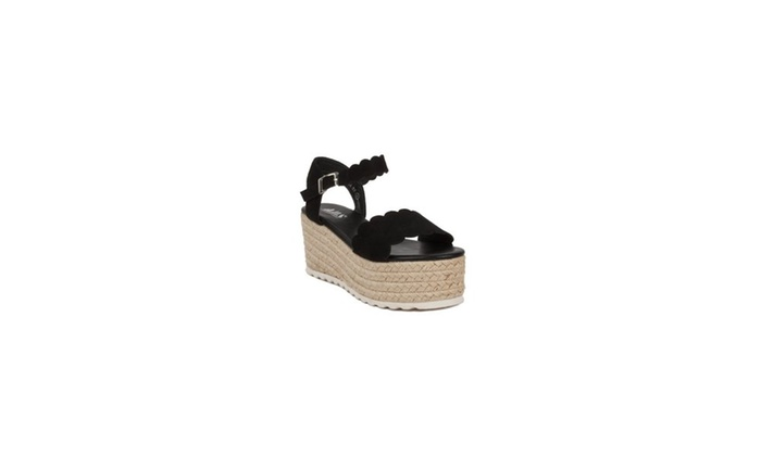 b9695af7d950 Xehar Women s Casual Comfy Espadrille Platform Wedge Open Toe Sandal ...