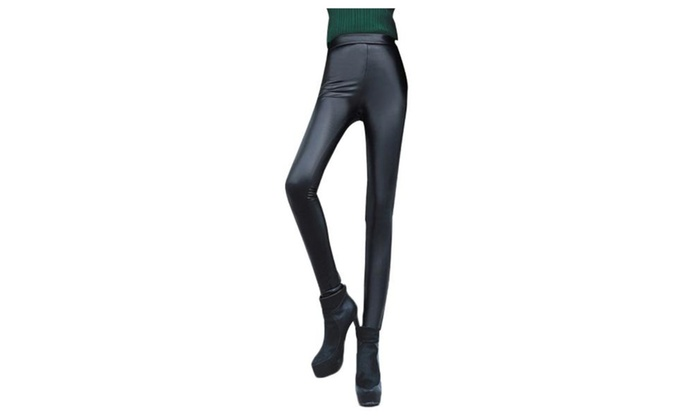 Women's High Rise Skinny Solid Long Pull On Style Leggings