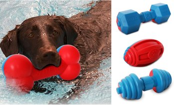 Pet Life Durable Water Floating Chew-and-Fetch Toy for Dogs