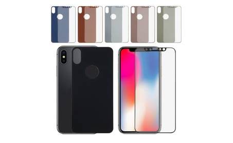 iPhone X Front and Back Colored Mirror Tempered Glass 6d5a6674-4f89-4598-a7eb-c34c48e18293