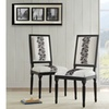 Martha Rose Square Back Chair - Set of Two