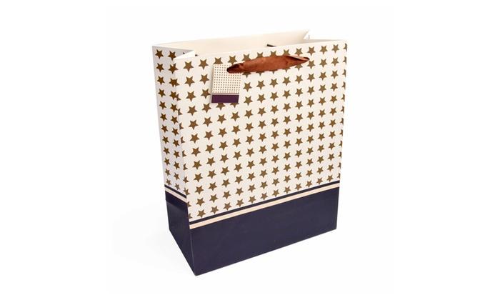 Riah Fashion: Star Print Set of 2 Gift Bags