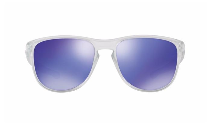 63553552c3e Oakley Sliver Round Men s Sunglasses (Matte Clear Violet Iridium ...