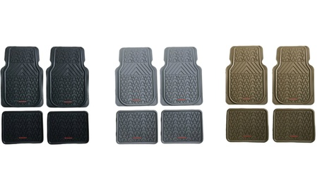 4pc All-weather Rubber Mat