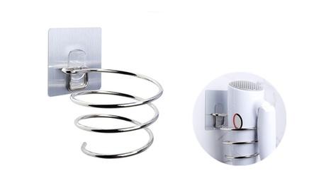 Hair Dryer Holder Wall Mounted Rack Space Save Stainless Steel Bathroom Shelf