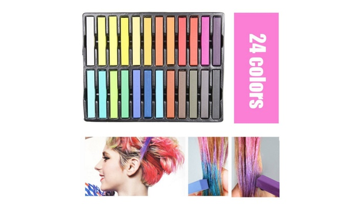 Temporary Hair Chalk Non Toxic Rainbow Colored Dye Pastel Kit Color Essentials Set