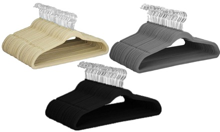 Velvet Non-Slip and Space Saving Hangers (25, 50, and 100 - pack)
