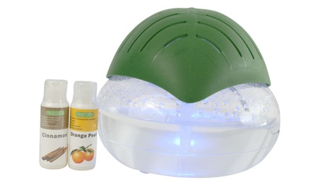 EcoGecko Green Leaf Air Cleaner & Revitalizer Essential Oil Diffuser w/ 2 oils photo