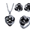 Zircon Black 925 Sterling Silver Jewelry Set for Women