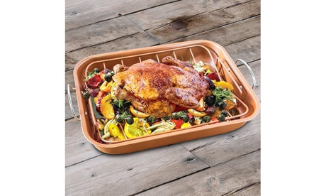 Roaster Pan with Rack for Turkey, Ribs, and More photo