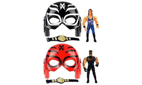 VT Super Masked Wrestling Set 2 Masks, 2 Toy Figures, 2 Belts (Figures Vary) 9df352ca-d47c-4390-8e34-ac4f65568efb