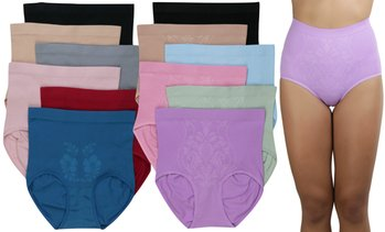 (6-Pack) Women's Slimming High-Waisted Panty Briefs - Plus Size