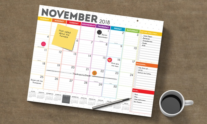 Academic Year 2019 Desk Pad Calendar Groupon