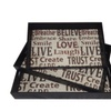 Cheungs Set of 3 Serving Tray with Positive Affirmations Side Handles