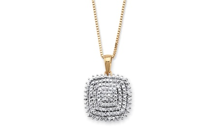 Diamond Accent 14k Gold over .925 Silver Necklace 84a18824-093d-4046-93bc-7d326390d9a6