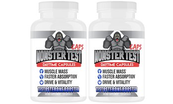 Angry Supplements Monster Test Caps, Testosterone Booster Capsules 120ct