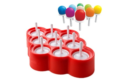 9 in 1 Non-toxic Food Grade Silicone DIY Ice Pop Maker Molds 40069bfc-df28-488e-a02f-72470716ad84