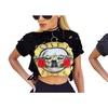 Female T-Shirt New GUNS N ROSES Print Crop Top T Shirt