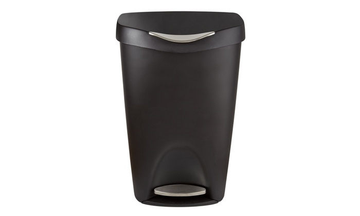 Umbra Brim Large Kitchen Trash Can with Stainless Steel Foot ...