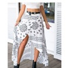 Irregular Bohemian Printed Swallowtail Skirts