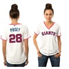 Women's Giants Buster Posey White Stars & Stripes Player Jersey