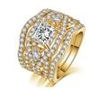 Cubic Zirconia Marquise shape 3 Rings Set for Women