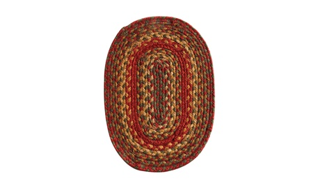 "Homespice Decor Cider Barn Jute Braided Tablemat 10"" x 15"" Oval f49a8cb6-17f9-4910-9914-49786c1d82bc"