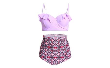 Women's High Waist Floral Bikini Set Strappy Push Up Bathing Suit 81ee459a-87d7-4ba9-9dde-c26c1c413ea4