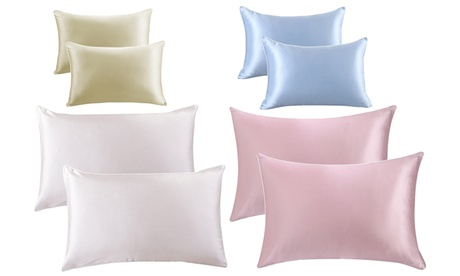 Bridal Satin Hair Care Pillow Case (2 Pack) Sizes Available Standerd, Queen, King 4f6f2e91-6cc4-4868-9d50-f17e984b11d1