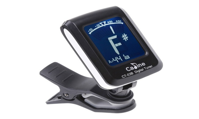 LCD Clip-on Electronic Digital Guitar Bass Violin Ukulele Tuner