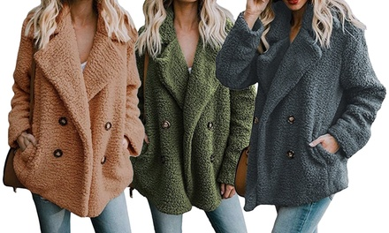 Plush Sherpa Peacoat Was: $79.99 Now: $29.99