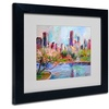 Richard Wallich 'Cityscape 2' Matted Black Framed Art