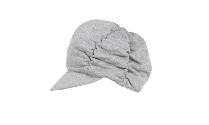 Women's Casual Slightly Curved Brim Round Crown Newsboy Cap - White / One Size