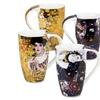 Set of 4 Gustav Klimt Art Mugs - Adele Bloch Bauer & Jungfrau