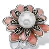 Pearl Mother-Of-Pearl Marcasite Silver Ring