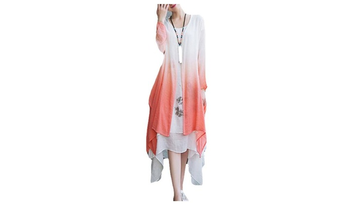 Women's Long Sleeve Stylish Without Hood Casual Dress