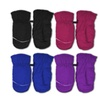 Kids Toddlers Fleece Lined Winter Gloves (Pack of 2)