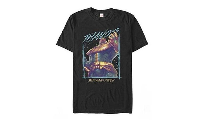 Ljing: Lijing Marvel Thanos Mad Titan Mens Graphic T Shirt