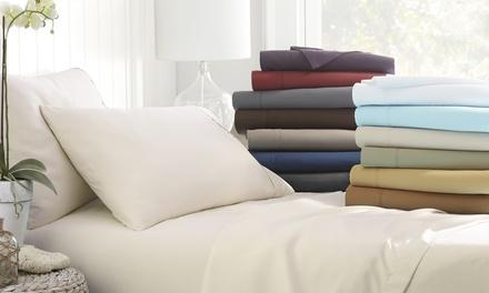 Merit Linens Premium Deep Pocket 4 Piece bed Sheet Set