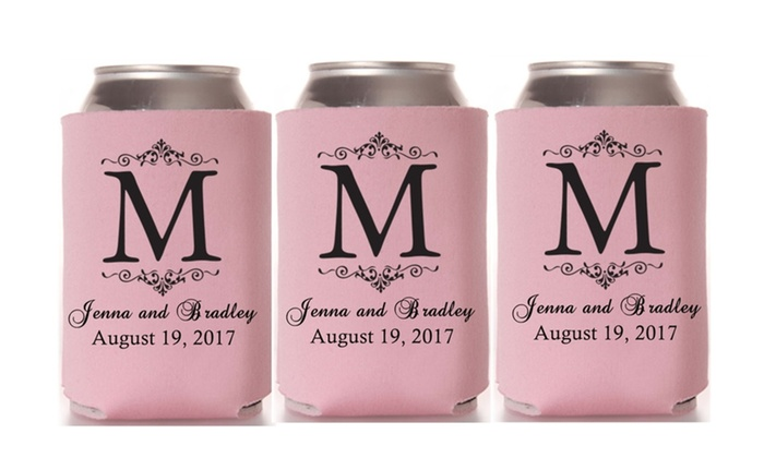 25 Customized Wedding Koozies