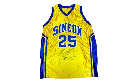 Autographed Derrick Rose Simeon High School Yellow Custom Jersey 206d751f-9267-42b5-9ec9-ecf020ea5572