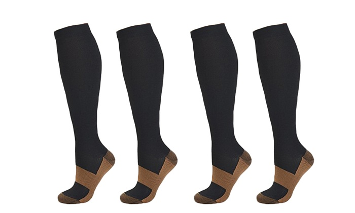 Copper Infused Compression Socks Unisex 5 Pair Nip Health & Beauty Compression Garments