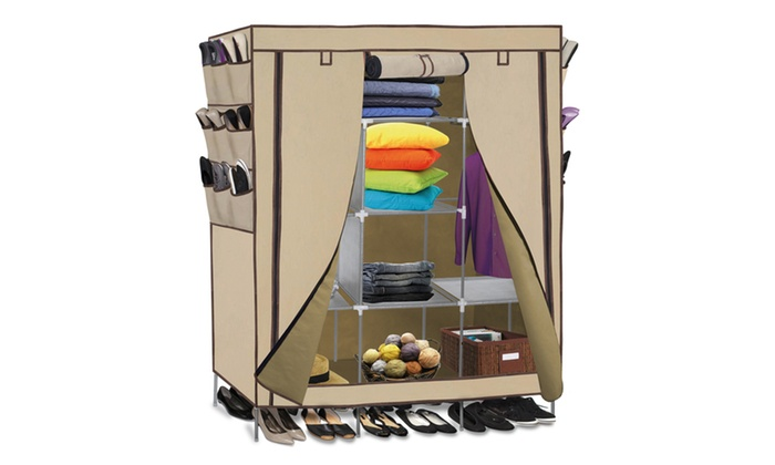portable wardrobe closet storage organizer - Portable Wardrobe Closet