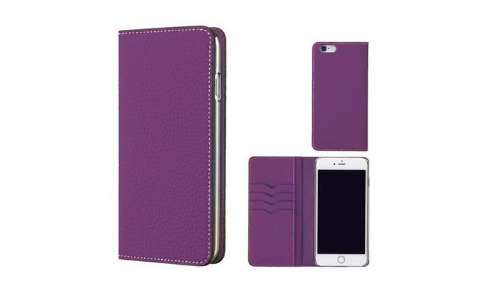 sale retailer 984c4 5a2f4 iPhone 6S Plus/6 Plus Case BONAVENTURA, Genuine Leather Wallet Case ...