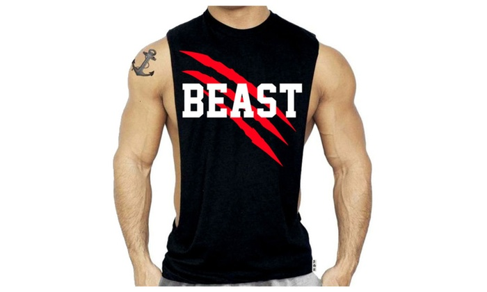 New Beast Workout Muscle Sleeveless Tshirt