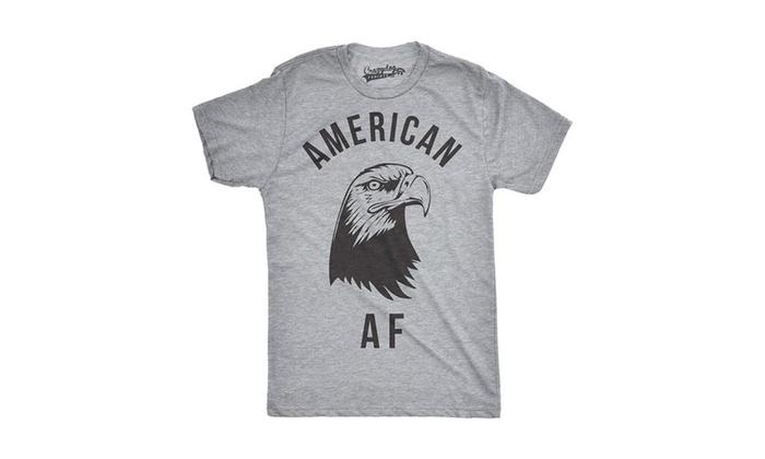 af18b30305 Mens American AF Funny Tshirts Fourth of July Novelty Tees for ...