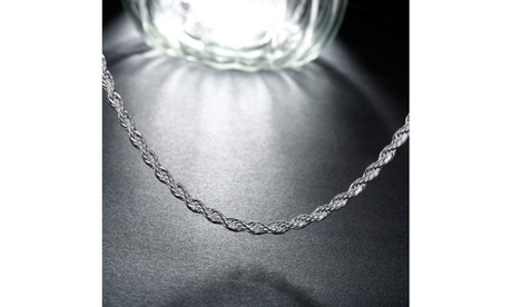 Singapore Sleek Silver Unisex Chain Necklace 6938318e-e30c-4f30-8560-2a149f5b0509